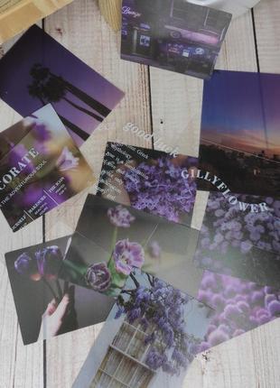 Набор наклеек для скрапбукинга в фиолетовых тонах