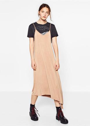 Асимметричное платье, сарафан на  футболку, платье для беременных zara