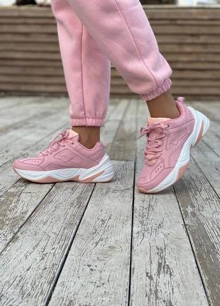 Nike m2k tekno pink, женские розовые кроссовки