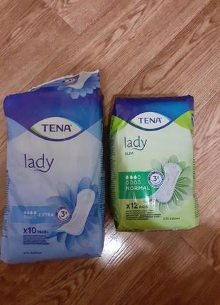 Послеродовые прокладки/урологические lady slim normal и прокладки tena lady extra
