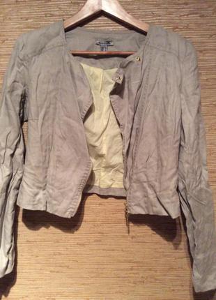 Пиджак льняной укороченный
