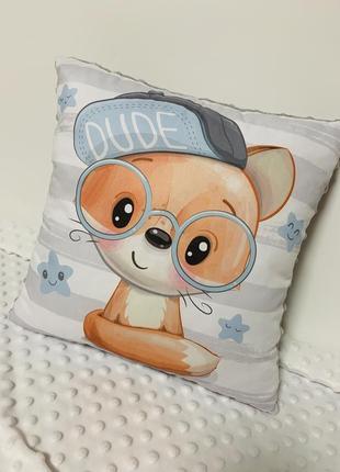 Детская текстильная плюшевая подушка