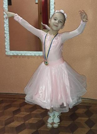 Бейсик рейтинговое турнирное платье для бальных танцев