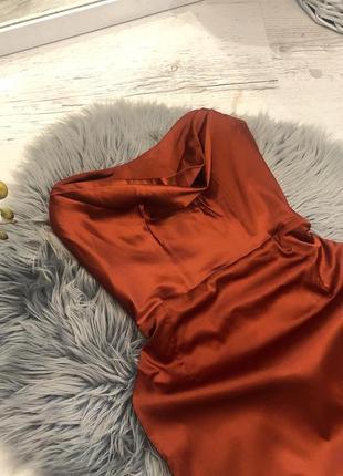 Корсетное атласное платье миди oh polly. корсетна сукня атласна міді4 фото