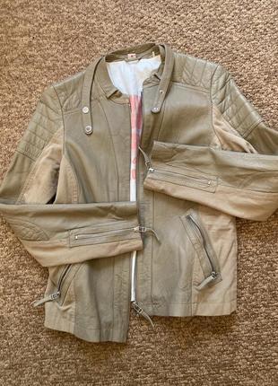 Куртка кожа со вставками