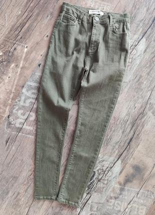 Тонкие джинсы брюки штаны скинни стрейч зауженные