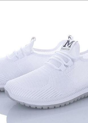 Белые текстильные кеды кроссовки мокасины слипоны сетка