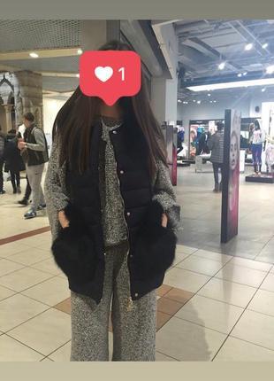 Вязаный костюм zara knit