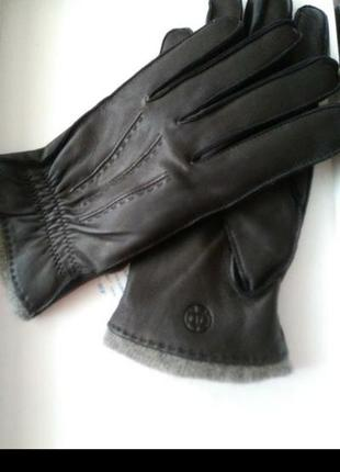 Перчатки мужские кожа