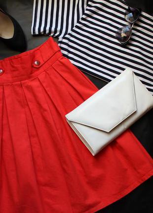 Супер классная кораллово-красная юбка dorothy perkins