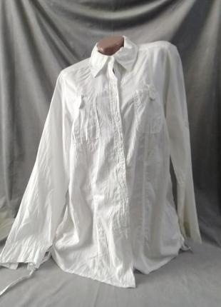 Жіноча бавовняна тонка блузка, європейський розмір 42-44
