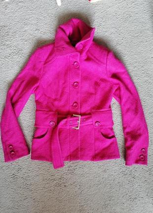 Стильное яркое шерстяное пальто, качество, blueyes