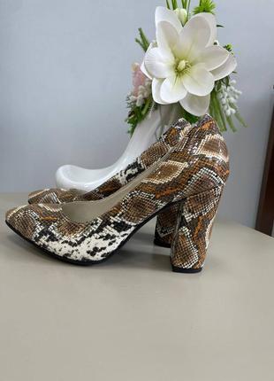 Шкіряні туфлі пітон