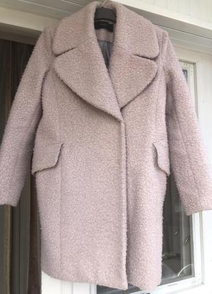 Пальто reserved пудрового цвета