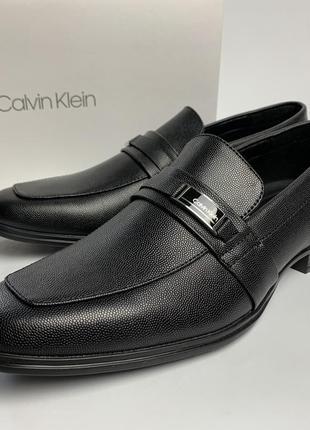 Мужские туфли calvin klein - оригинал! кожаные!