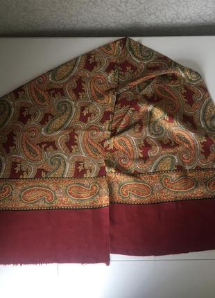 Мужской шёлковый шарф 122*30