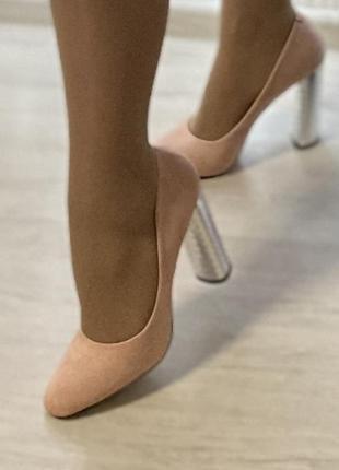 Туфли розовые 37