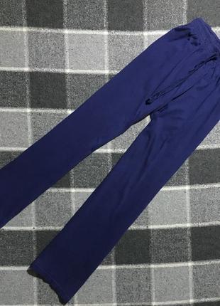 Женские хлопковые домашние штаны (брюки) (срр идеал оригинал синие)