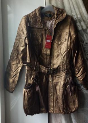 Демисезонное пальто. удлиненная курточка