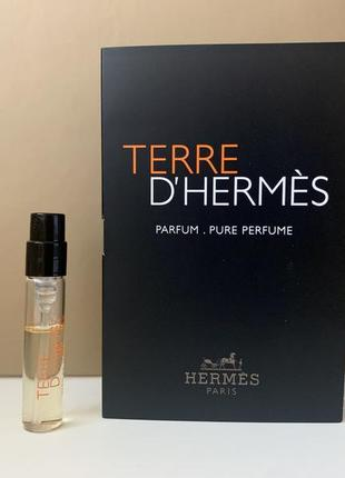 Hermes terre d'hermes parfum парфюмированная вода пробник
