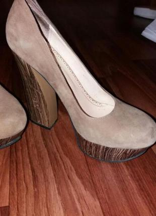 Туфли натуральный замш, торг