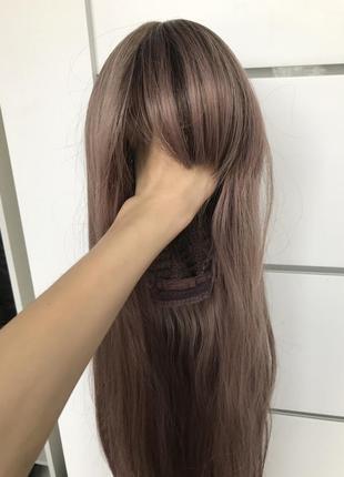 Парик /перука попелясто рожевий колір