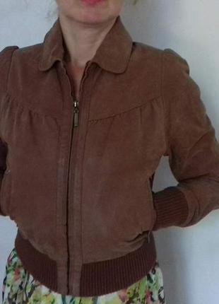 Натуральная замшевая курточка, замша, пиджак