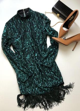 Безумно красивое изумрудное платье англия