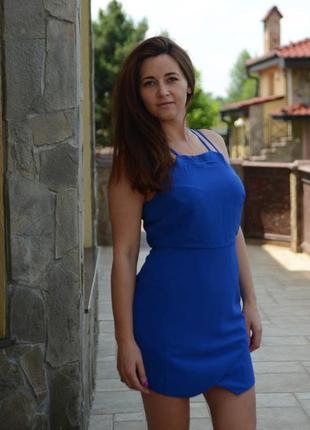 Продам короткое синее платье