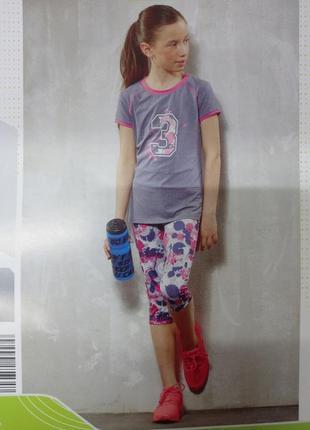 Спортивные лосины легинсы на девочку.