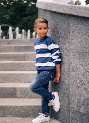 Джемпер в полоску для мальчика
