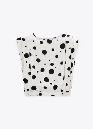 Топ блузка с подплечниками