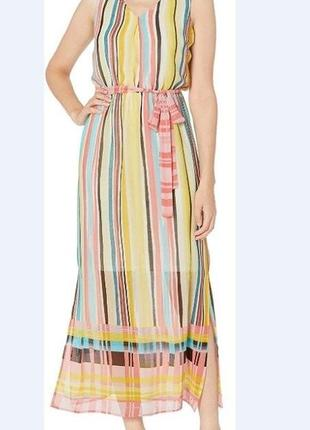 Легкое платье сарафан макси nine west размеры 6-s-m, 12-l,14- xl
