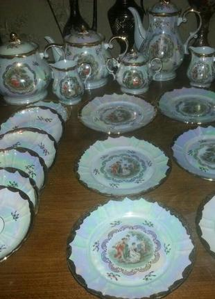 Немецкие десертные тарелки мадонна, золотой оскар, золотая роза гдр