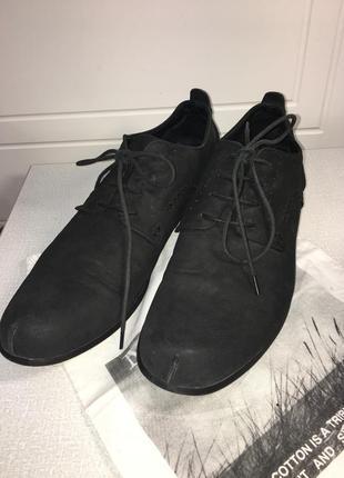 Стильные мужские туфли из натуральной кожи нубук. cosmocomo