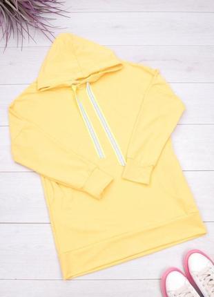Женское жёлтое худи-платье