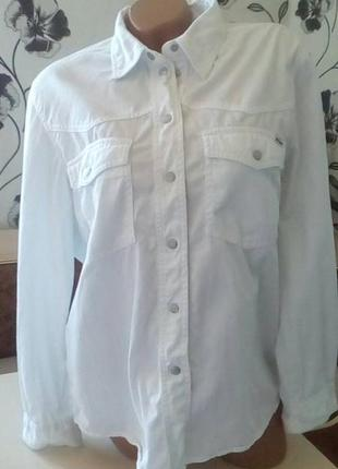 Джинсовая рубашка от john baner