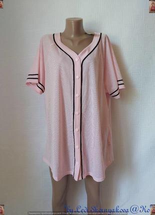 Фирменная forever 21 просторная блуза/футболка в спортивном стиле, размер 5хл