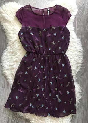 Мини платье stradivarius шифон