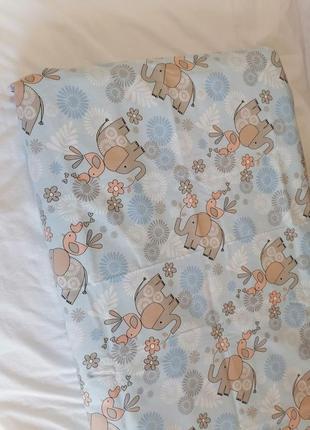 Детская простынь на резинке, простирадло на резинці в ліжечко дитяче