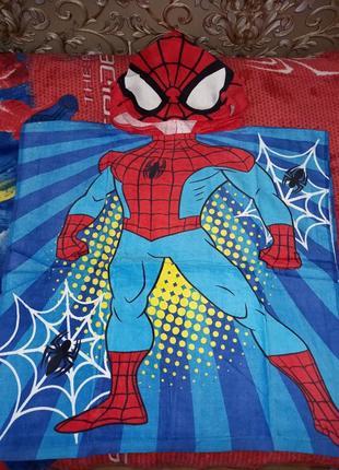 Полотенце пончо супер человек паук spider man