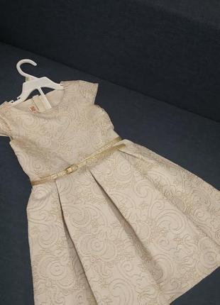 Золотое випускное нарядное платье waikiki 5-6