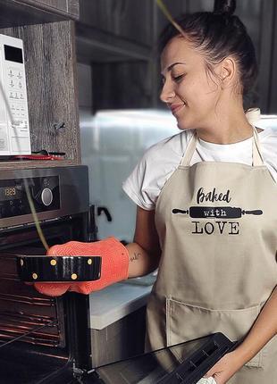 Фартук с надписью baked with love (пеку с любовью) (frt_19n015)