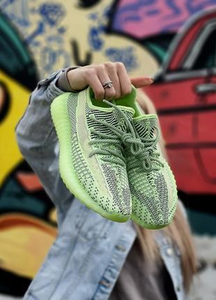Женские кроссовки adidas yeezy boost 350 v2 green 36-37-38-39-40