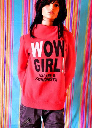 Флисовая/плюшевая кофта/свитер/толстовка/свитшот here&there 42/46 размер