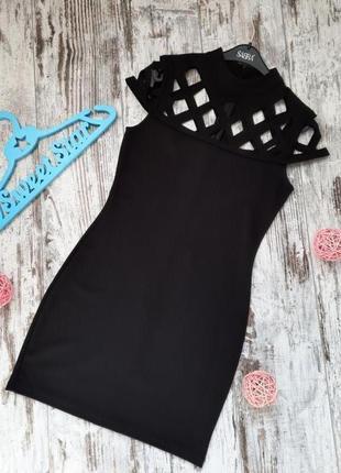 Маленькое черное платье с перфорацией quiz