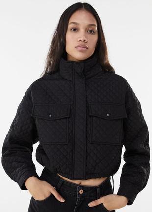 Стеганная куртка ветровка bershka