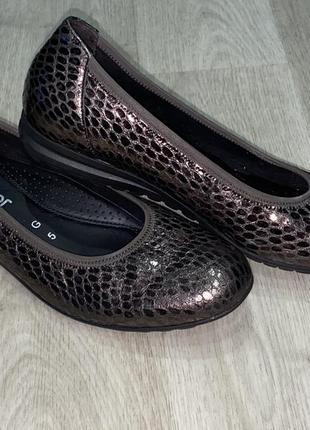 Оригинальные, очень комфортные балетки, туфли gabor comfort размер g 5