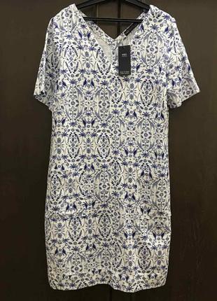 M&s  летнее льняное платье р . 48-50/m l