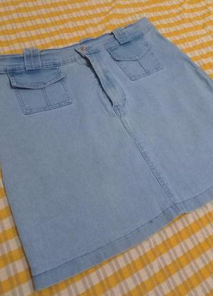 Юбка джинсовая ддинсовка юбка